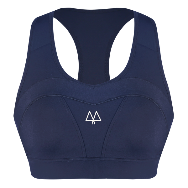 MAAREE Empower Medium Impact Sports Bra Navy Front