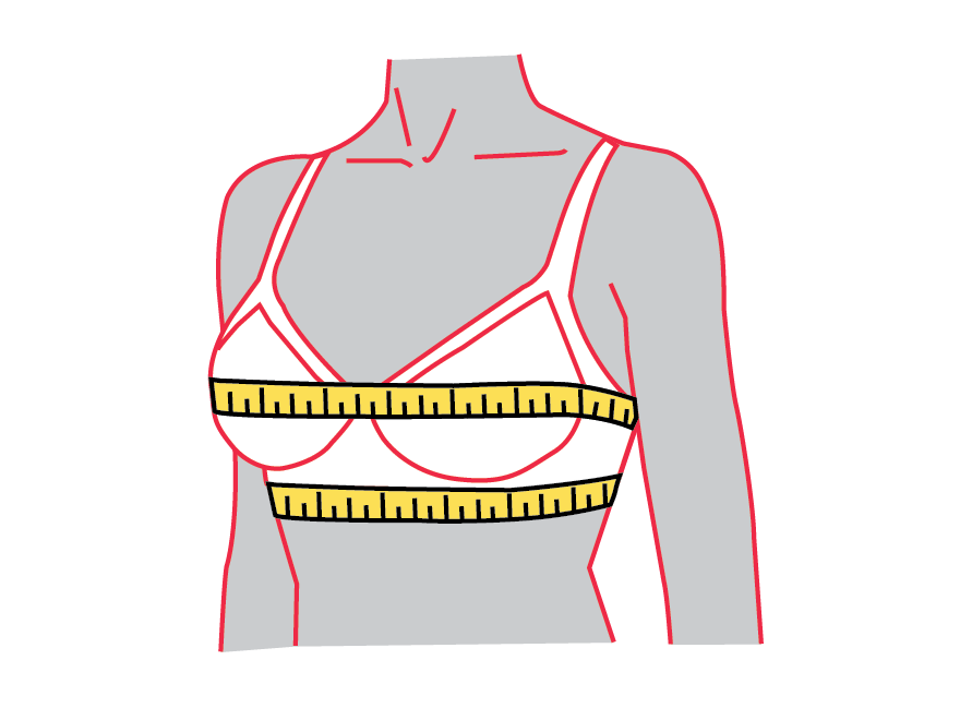 bra sizing measurement locations