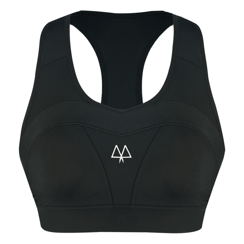 MAAREE Empower Medium-Impact Sports Bra Black front