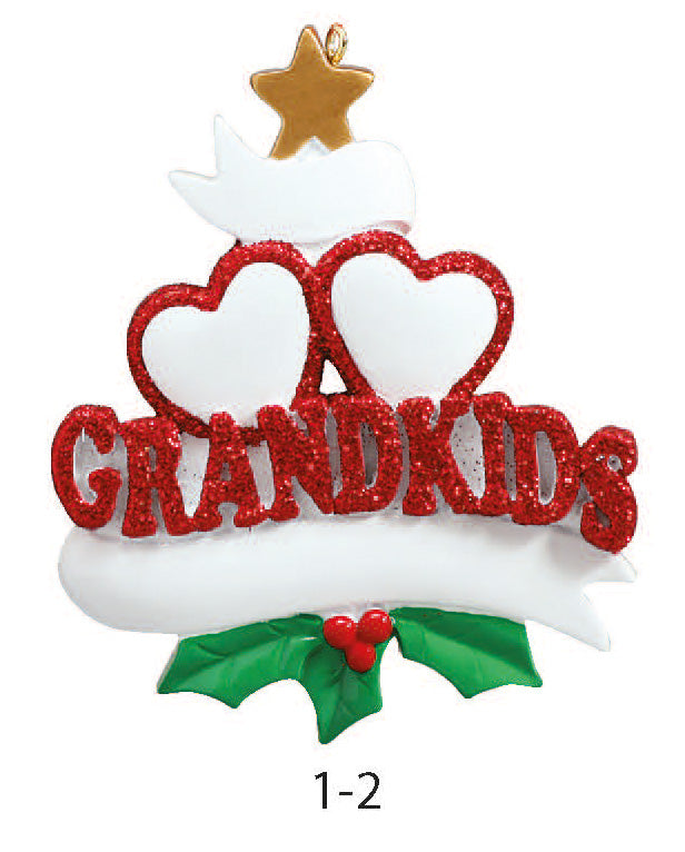 GRANDKIDS FAMILY OF 2 - Express Ornaments