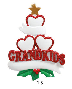 GRANDKIDS FAMILY OF 3 - Express Ornaments