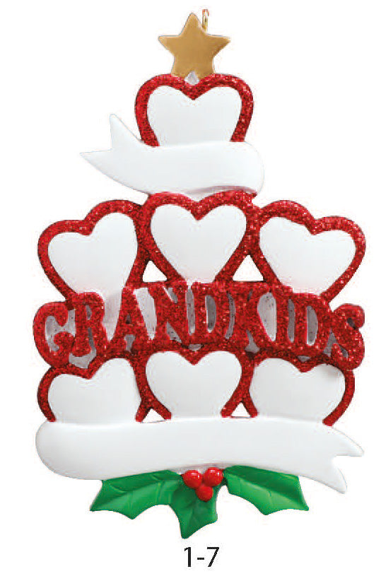 GRANDKIDS FAMILY OF 7 - Express Ornaments
