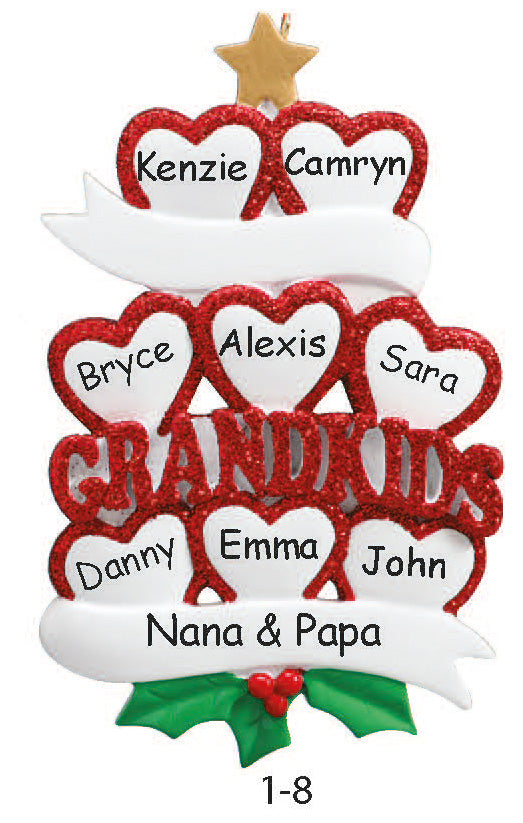 GRANDKIDS FAMILY OF 8 - Express Ornaments