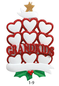 GRANDKIDS FAMILY OF 9 - Express Ornaments