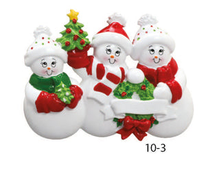 SNOWMAN FAMILY OF 3 - Express Ornaments