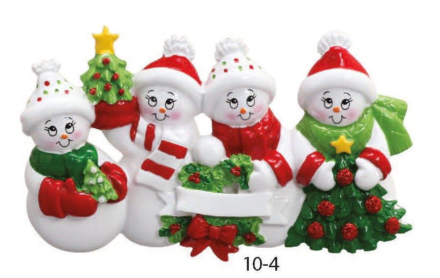SNOWMAN FAMILY OF 4 - Express Ornaments