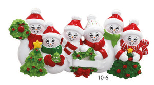 SNOWMAN FAMILY OF 6 - Express Ornaments