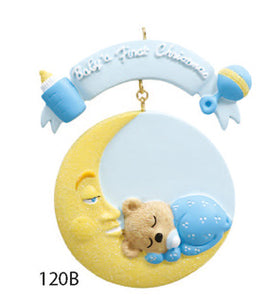 BABY 1ST CHRISTMAS BLUE TEDDY - Express Ornaments