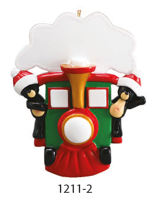 TRAIN FAMILY OF 2 - Express Ornaments