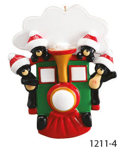TRAIN FAMILY OF 4 - Express Ornaments