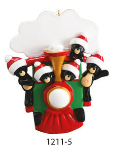 TRAIN FAMILY OF 5 - Express Ornaments