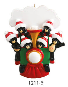 TRAIN FAMILY OF 6 - Express Ornaments