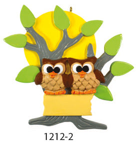 OWL TREE FAMILY OF 2 - Express Ornaments
