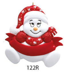 BABY CHRISTMAS SNOWMAN RED - Express Ornaments