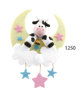 BABY ORNAMENT MOON AND COW - Express Ornaments