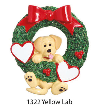 1322 Yellow Lab - Express Ornaments