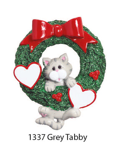 1337 Gray Tabby - Express Ornaments