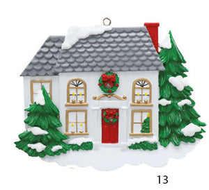 HOUSE WITH RED DOOR - Express Ornaments