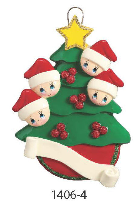 TREE FAMILY OF 4 - Express Ornaments