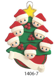 TREE FAMILY OF 7 - Express Ornaments