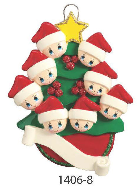 TREE FAMILY OF 8 - Express Ornaments