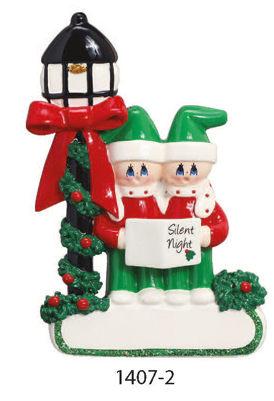 CHRISTMAS CAROL FAMILY OF 2 - Express Ornaments