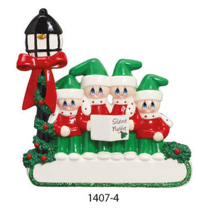 CHRISTMAS CAROL FAMILY OF 4 - Express Ornaments