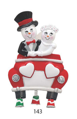 NEWLYWEDS WITH CAR - Express Ornaments
