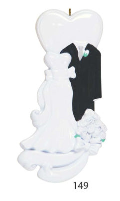 WEDDING COUPLE SUITE AND DRESS - Express Ornaments