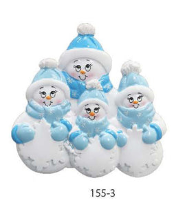 SNOWMAN BLUE FAMILY OF 4 - Express Ornaments