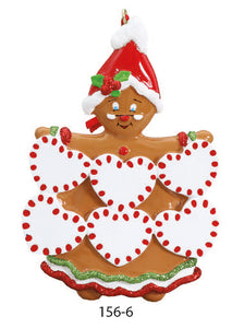GINGERBREAD FAMILY OF 6 - Express Ornaments