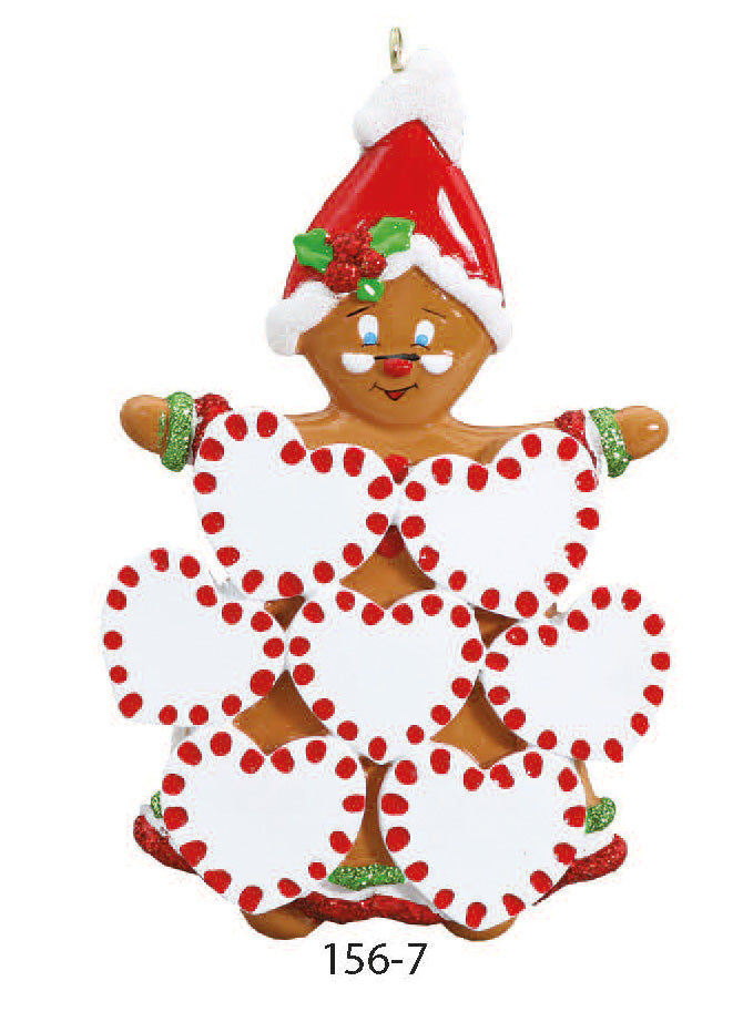 GINGERBREAD FAMILY OF 7 - Express Ornaments
