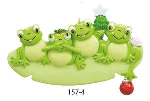 FROG FAMILY OF 4 - Express Ornaments