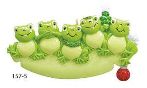 FROG FAMILY OF 5 - Express Ornaments
