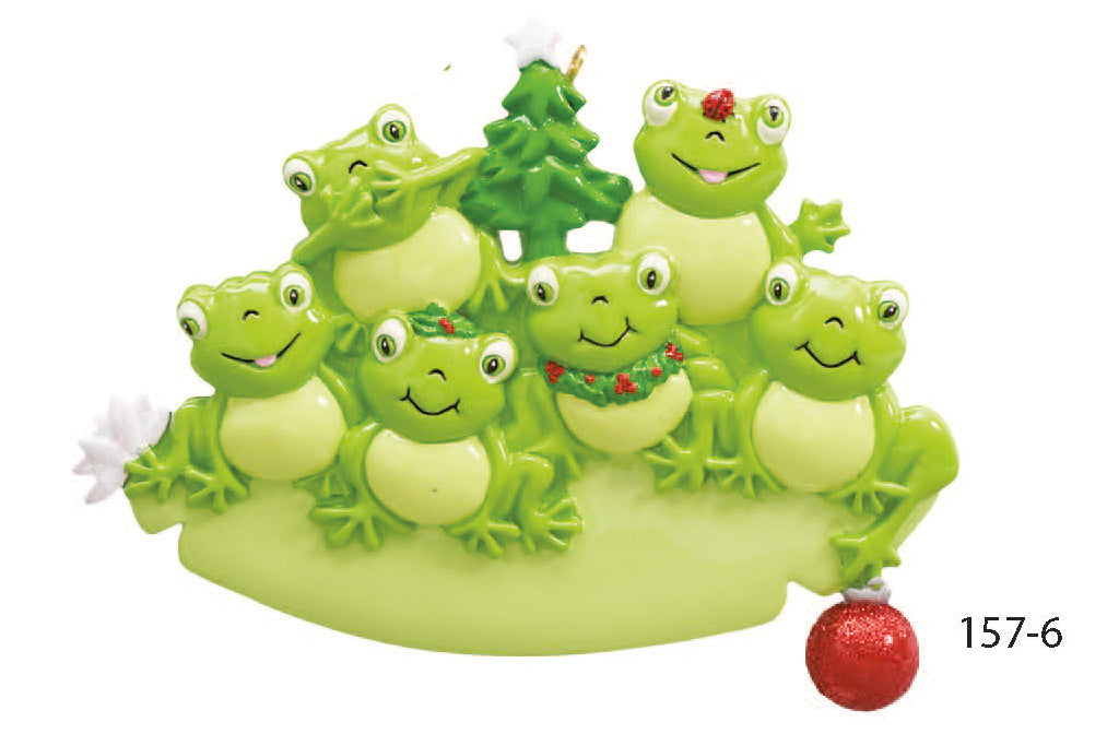 FROG FAMILY OF 6 - Express Ornaments
