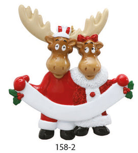 MOOSE COUPLE - Express Ornaments