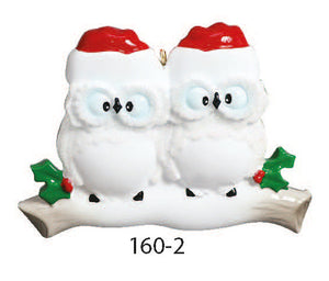 OWL FAMILY OF 2 - Express Ornaments
