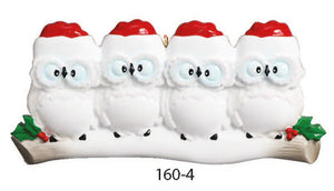 OWL FAMILY OF 4 - Express Ornaments