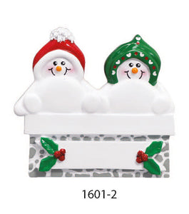 FIREPLACE FAMILY OF 2 - Express Ornaments