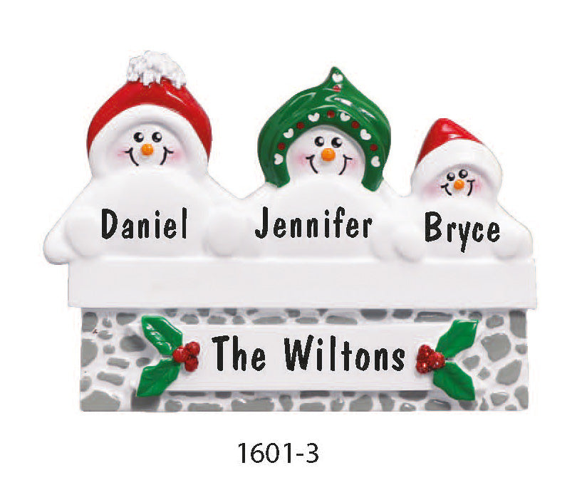 FIREPLACE FAMILY OF 3 - Express Ornaments