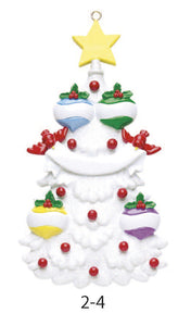 WHITE CHRISTMAS TREE FAMILY OF 4 - Express Ornaments