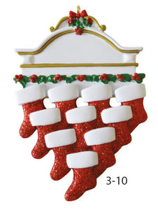 Stocking Family Of 10 - Express Ornaments