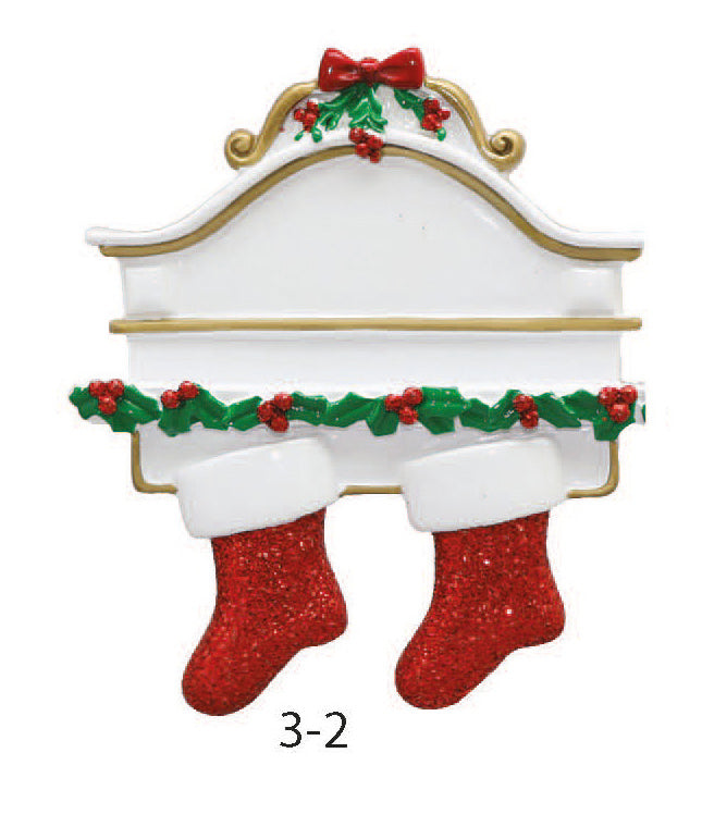 Stocking Family Of 2 - Express Ornaments