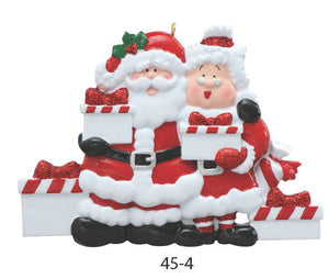 SANTA & MRS. CLAUS FAMILY OF 4 - Express Ornaments