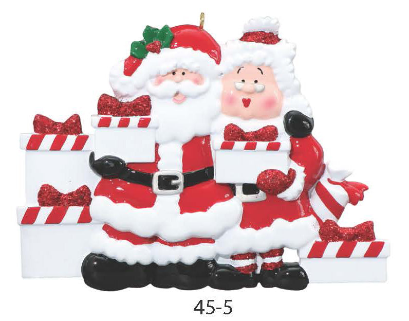 SANTA & MRS. CLAUS FAMILY OF 5 - Express Ornaments