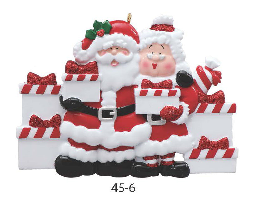 SANTA & MRS. CLAUS FAMILY OF 6 - Express Ornaments