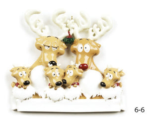 REINDEER FAMILY OF 6 - Express Ornaments