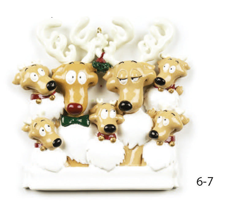 REINDEER FAMILY OF 7 - Express Ornaments