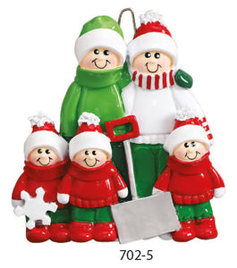 SHOVEL FAMILY OF 5 - Express Ornaments