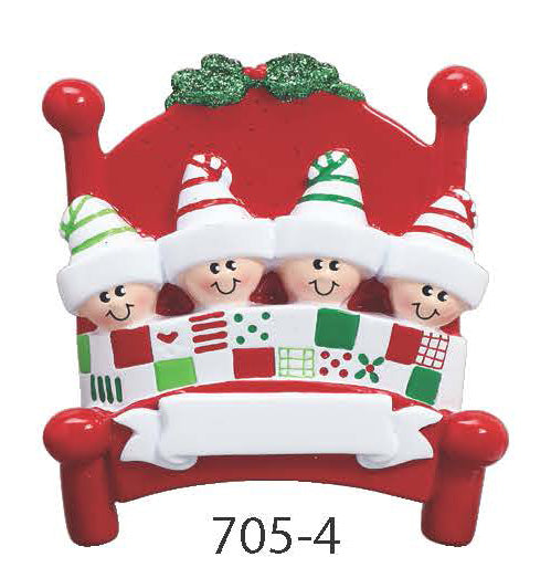 BED FAMILY OF 4 - Express Ornaments